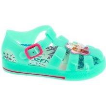 Disney by Arnetta Dívčí gumové sandály Frozen - zelené 051436b70ac