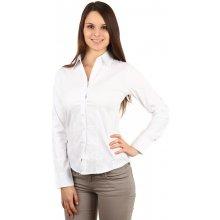 TopMode Stylová bílá košile na knoflíky s dlouhým rukávem i pro plnoštíhlé 67acde9b18