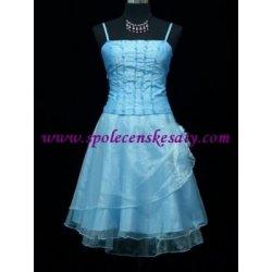 Modré krátké společenské šaty koktejlky na ples svatbu promoce taneční 378bb37bb1