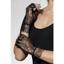0ecdc037ded Karnevalový kostým Rukavice bez prstů černá krajka