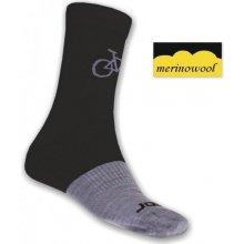 Sensor TOUR Merino wool ponožky černá/šedá