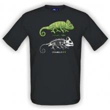 9ca1fdbd26a T-shock tričko s potiskem Chameleon pánské Šedá