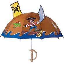 Blooming Brollies Chlapecký deštník s pirátem - hnědý