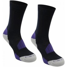 Karrimor ponožky 2 Pack Walking Socks Ladies Navy Purple