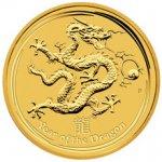 Lunární Zlatá mince Year of the Dragon Rok Draka 2 Oz 2012