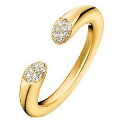 Dámský prsten z pozlacené chirurgické oceli Calvin Klein Brill KJ8YJR1401  51  f7f5329e3e