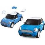 HAPPY WELL 3D puzzle model Mini Cooper 1:32 modrý