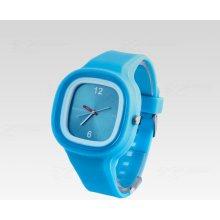 Silikon Watch Square světle modré