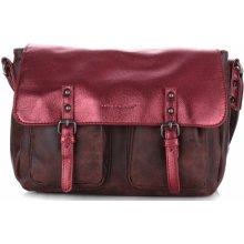 David Jones módní kabelka listonošky červená cb1cc6d1cba