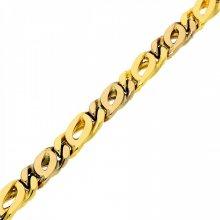 Goldstore Náramek masivní zlatý žluté a bílé zlato 1.11.NR004090.22