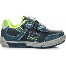 HASBY Sportovní modré dětské boty na suchý zip