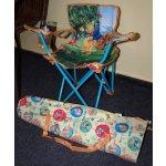 Dětské skládací křesílko relaxační polohovací - medvídek Pú