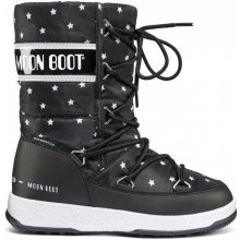 63b883eaf46 MOON BOOT W.E. QUILTED STAR JR Black White