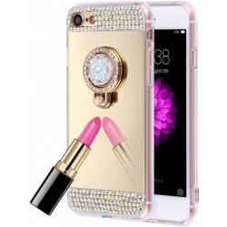 6880ba081 Pouzdro AppleKing luxusní zrcadlové kryt / s kamínky ve stylu diamantu a  skrytém kruhovém držákem Apple