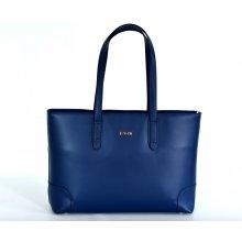 Bright kabelka kožená A4 na dokumenty modrá 1fb2d1a18f0