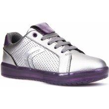 Geox Dívčí svítící tenisky Kommodor - stříbrné