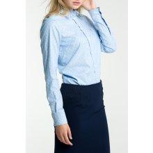 Gant Dámská Košile GANT STRETCH OXFORD PRINT DOT SHIRT modrá