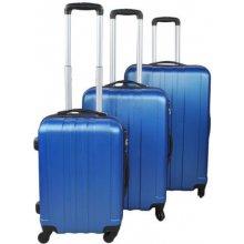 Malatec 2821 Sada 3 Cestovních kufrů ABS M/L/XL modrá
