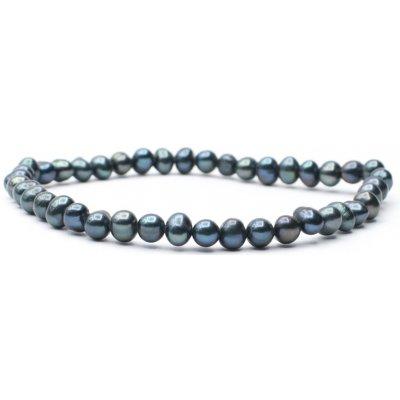 Milujeme Kameny náramek černá perla NV812