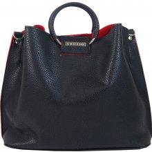 Grosso moderní dámská kabelka do ruky S748 Černo-červená 877dd5c1ca