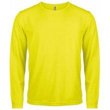 Tričko s dlouhým rukávem Zářivá žlutá