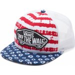 Vans kšiltovka Beach Girl Trucker dyed dots/stripes/blue/red