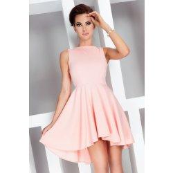 f12ba7e61589 Numoco dámské šaty s asymetrickou sukní 33-1 růžová od 899 Kč ...