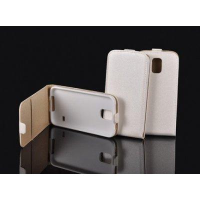 Pouzdro Forcell Slim Flip Flexi Samsung I9060 Galaxy Grand Neo Bílé