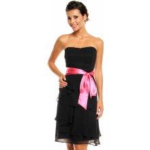fdb8076af9d Mayaadi společenské šaty korzetové s mašlí a sukní s volány černá
