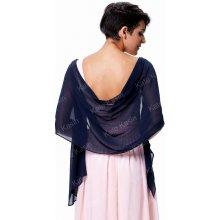 Přehoz přes ramena ruce šál luxusní KK000229-5 tmavě modrá
