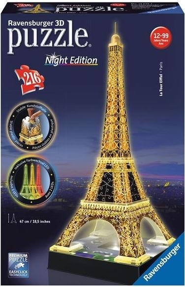 Ravensburger 3D puzzle Eiffelova věž LED 216 dílků - 0