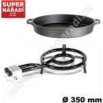 Set Paella LPG vařič 35cm 9,5kW, 50 cm litinová pánev Gastro