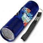 Euroswan Dětská hliníková LED baterka Hledá se Dory Modrá Alu 9x2,5 cm