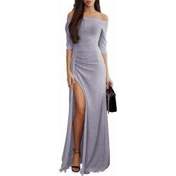 1e870dd63807 Dámské společenské šaty dlouhé stříbrná