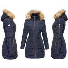 Fashionweek Hot New dámská Zimní bundička s odepínacím kožíškem JENOT F129 Tmave modry