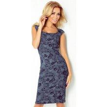 5dd1da854ca Numoco šaty dámské s potiskem 53-26 tmavě modrá