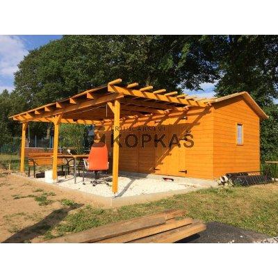 Zahradní domek JIRKA + Pergola 3 x 6 m