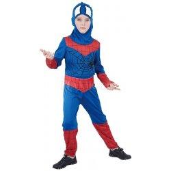Dětský karnevalový kostým Šaty Pavoučí hrdina 120 - 130 cm