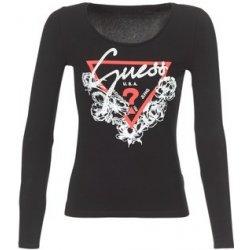 a9143af5e Guess Trička s dlouhými rukávy GRETAN Černá dámská trička - Nejlepší ...
