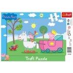 Deskové puzzle pro děti 15 dílků - Prasátko Pepa: Rytíř