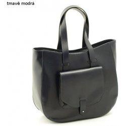 afe3194332 velká dámská kabelka kožená Shopper A4 tmavě modrá alternativy ...