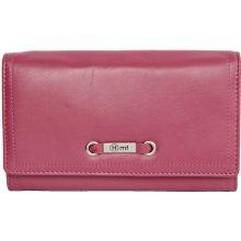 velmi příjemná kvalitní kožená peněženka HMT růžová