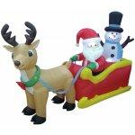vánoční dekorace nafukovací santa na saních, 200cm