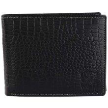 ALWAYS WILD Levné černé kožené peněženky pro pány N992-CN