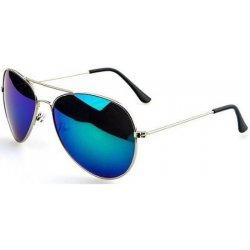eb669de20 Pilotky modro zelené zrcadlové stříbrný rám MZAV 04G. Sluneční brýle ...