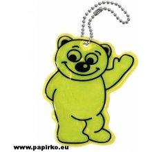 Přívěsek na klíče Compass reflexní BEAR žlutý