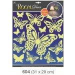 Pokojová dekorace svítící ve tmě motýli 31x29 cm 604, Anděl Přerov