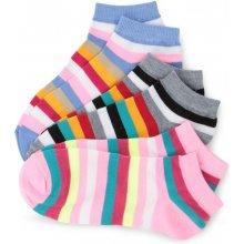 Dedra REBELS ponožky pruhované 3 pack