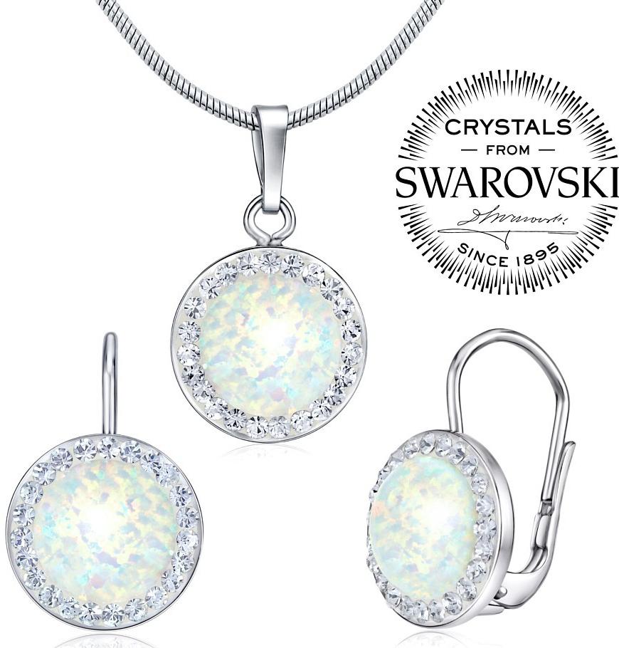 Příslušenství k Silvego stříbrný set náušnice a přívěsek se Swarovski  Crystals a bílým opálem SILVEGOB36077w - Heureka.cz b87b2d01320