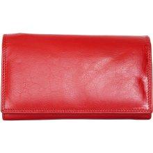 Kvalitní červená kožená peněženka HMT